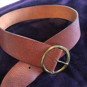 Anthro leather belt